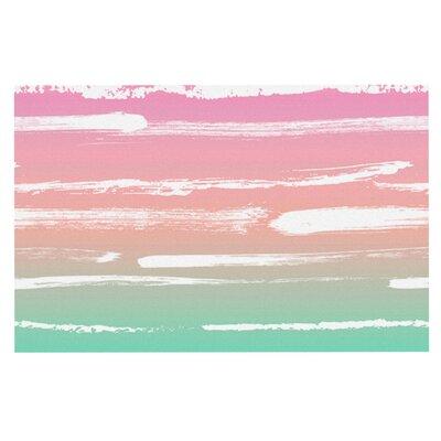 Anneline Sophia Painted Stripes Doormat Color: Green/Pink