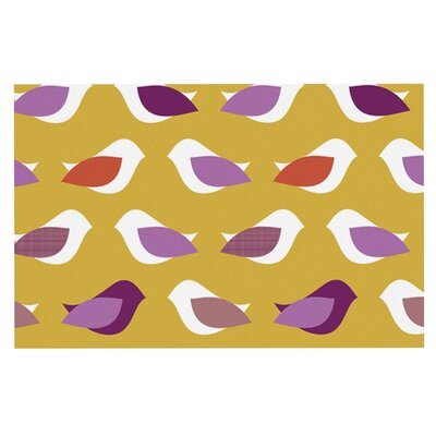 Pellerina Design Golden Orchid Birds Doormat