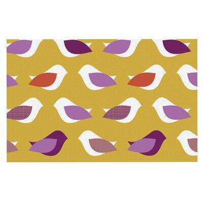 Pellerina Design Golden Orchid Birds Doormat