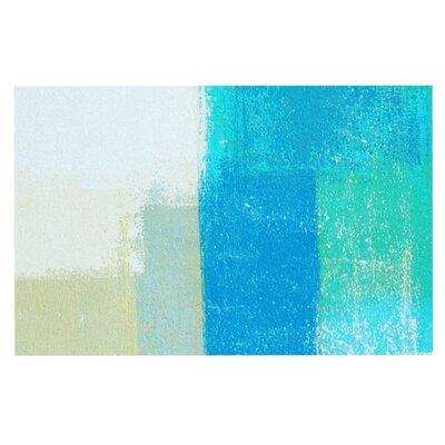 CarolLynn Tice Shallow Cool Blues Decorative Doormat