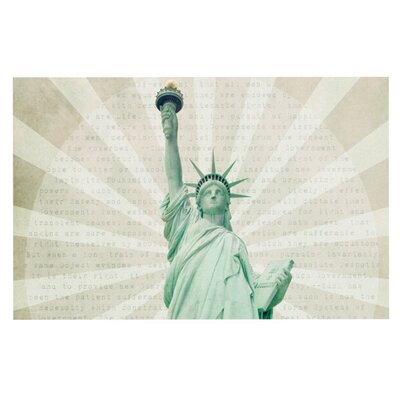 Catherine McDonald The Lady Statue of Liberty Decorative Doormat