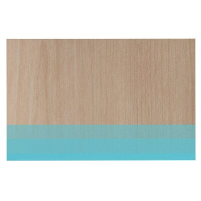 Brittany Guarino Art Wood Decorative Doormat Color: Blue/Aqua
