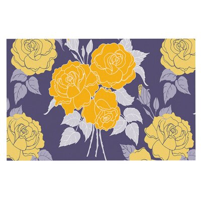 Anneline Sophia Summer Rose Doormat Color: Yellow/Purple