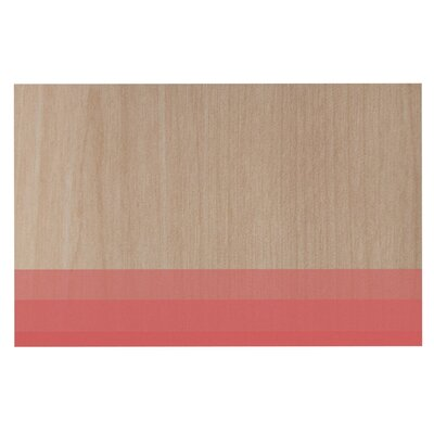Brittany Guarino Art Wood Decorative Doormat Color: Red/Pink
