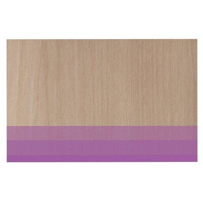 Brittany Guarino Art Wood Decorative Doormat Color: Purple/Lavender