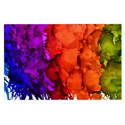 Claire Day Rainbow Splatter Decorative Doormat
