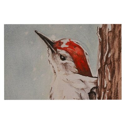 Brittany Guarino Downy Woodpecker Decorative Doormat
