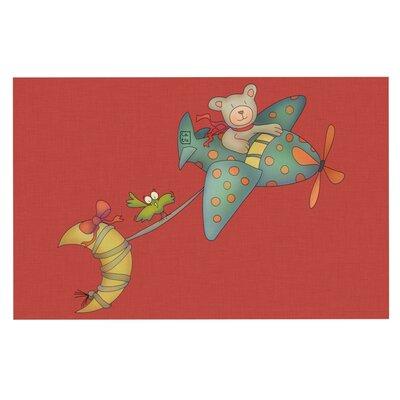 Carina Povarchik I Will Bring You the Moon Bear Decorative Doormat