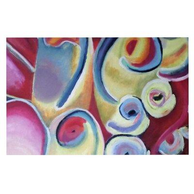 Cathy Rodgers Groovy Flowers Decorative Doormat