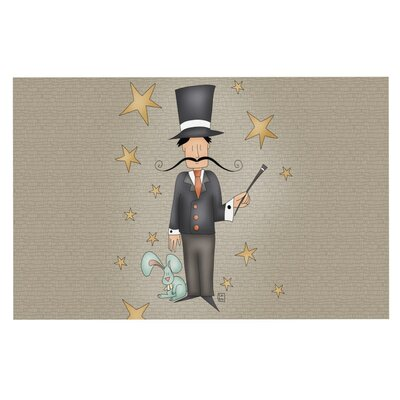 Carina Povarchik Circus Magician Decorative Doormat