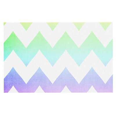 Catherine McDonald Water Color Chevron Decorative Doormat