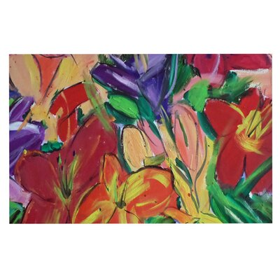 Cathy Rodgers Matisse Styled Lillies Flower Decorative Doormat