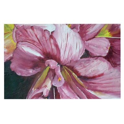 Cathy Rodgers Day Lily Blooms Flower Decorative Doormat