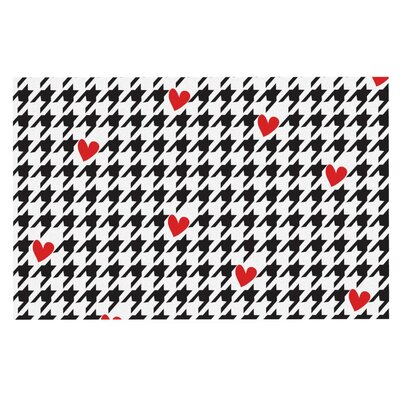 Empire Ruhl Spacey Houndstooth Heart Doormat