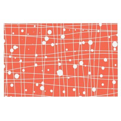 Budi Kwan Woven Web Mono Decorative Doormat Color: Peach