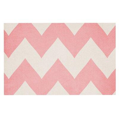 Catherine McDonald Sweet Kisses Chevron Decorative Doormat