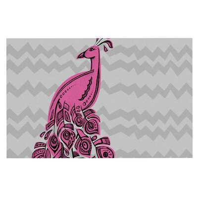 Brienne Jepkema Peacock Decorative Doormat Color: Pink