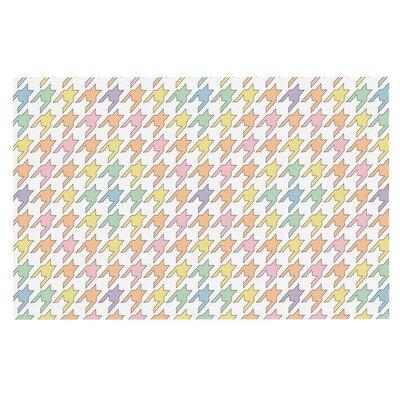 Empire Ruhl Houndstooth Doormat Color: Pastel