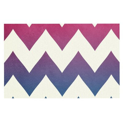 Catherine McDonald Fade to Chevron Decorative Doormat