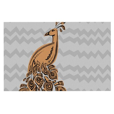 Brienne Jepkema Peacock II Decorative Doormat Color: Yellow