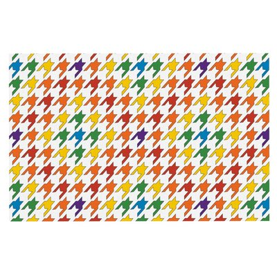 Empire Ruhl Houndstooth Doormat Color: Yellow/Orange/Blue
