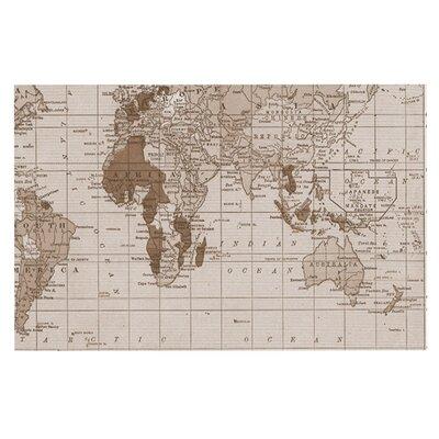 Catherine Holcombe Emerald World Vintage Map Decorative Doormat