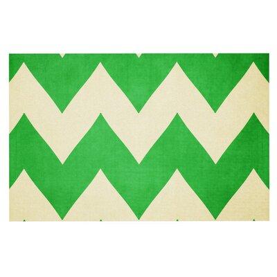 Catherine McDonald Granny Smith Chevron Decorative Doormat