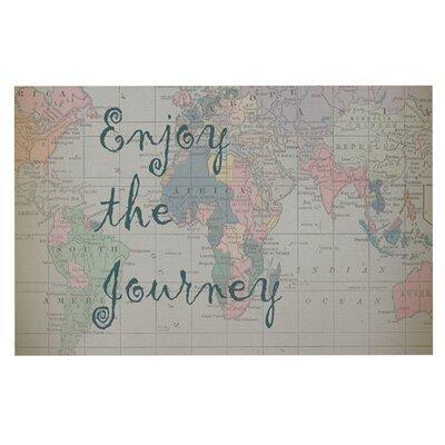Catherine Holcombe Journey World Map Decorative Doormat