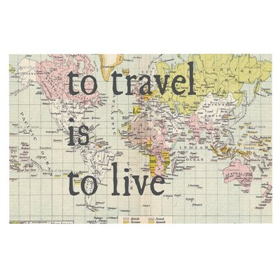 Catherine Holcombe To Travel is to Live Color Map Decorative Doormat