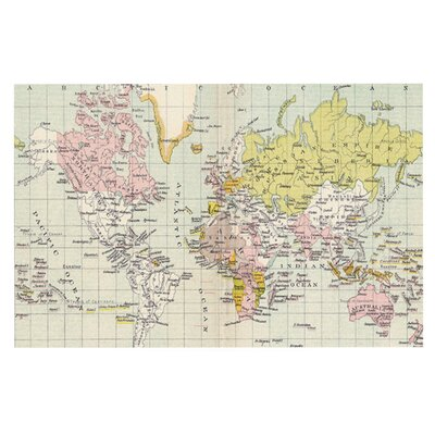 Catherine Holcombe Travel World Map Decorative Doormat