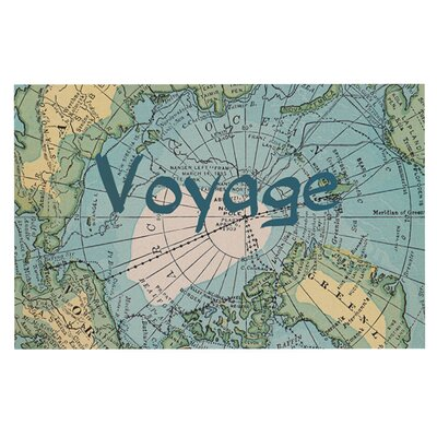 Catherine Holcombe Voyage Map Decorative Doormat