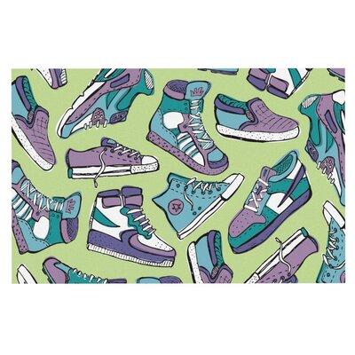 Brienne Jepkema Sneaker Lover Decorative Doormat Color: Purple