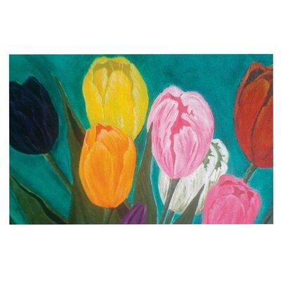 Christen Treat Tulips Flower Decorative Doormat