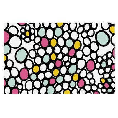 Emine Ortega Pebbles Doormat Color: Pink