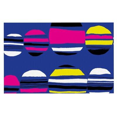 Emine Ortega Retro Circles Doormat Color: Cobalt
