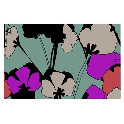 Gabriela Fuente Vintage Flowers Doormat
