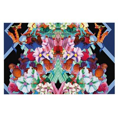 Danii Pollehn Herz Floral Decorative Doormat