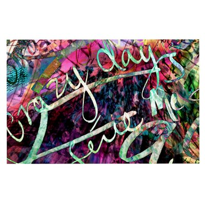 Gabriela Fuente Crazy Day Abstract Doormat