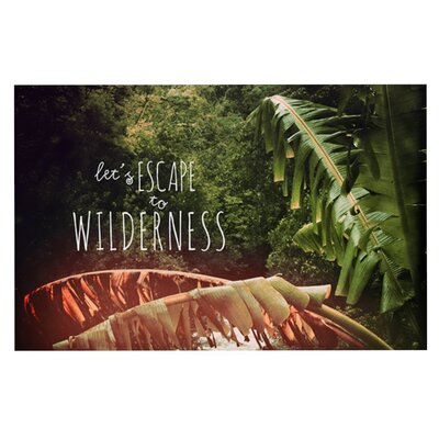 Deepti Munshaw Escape to Wilderness Forest Quote Doormat