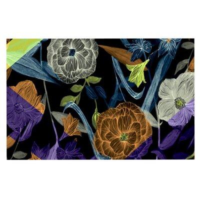 Gabriela Fuente Wonder Dark Flower Doormat