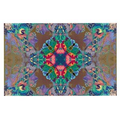 Danii Pollehn Flowery Floral Kaleidoscope Decorative Doormat