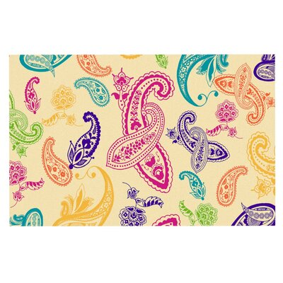 Emine Ortega Namaste Floral Abstract Doormat