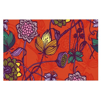 Gill Eggleston Garden Blooms Hot Floral Doormat