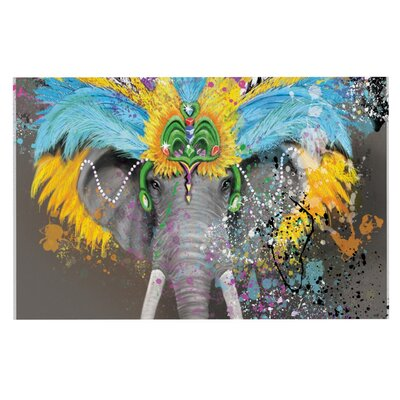 Geordanna Cordero-Fields My Elephant with Headdress Doormat