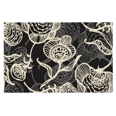 Gill Eggleston Future Nouveau Doormat Color: Black/White