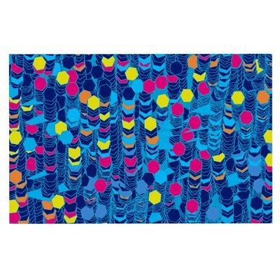 Frederic Levy-Hadida Color Hiving Doormat Color: Navy