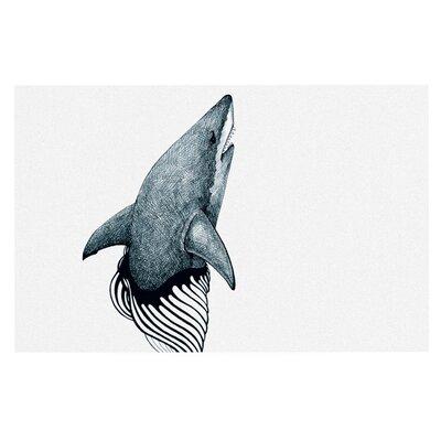 Graham Curran Shark Record Doormat Color: White