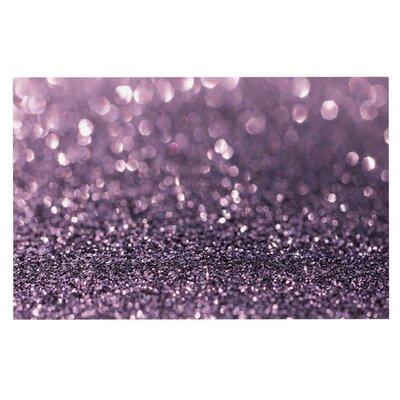 Debbra Obertanec Lavender Sparkle Glitter Doormat