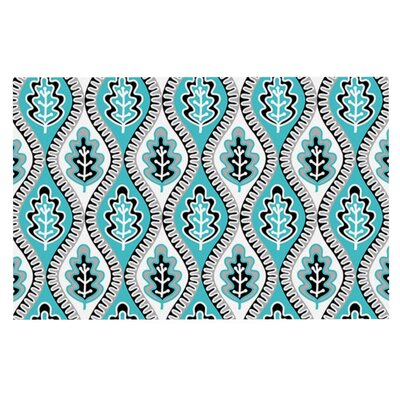 Jacqueline Milton Oak Leaf Floral Doormat Color: Blue