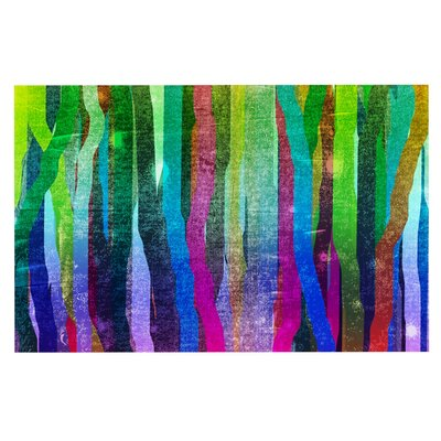 Frederic Levy-Hadida Jungle Stripes Painting Doormat Color: Green